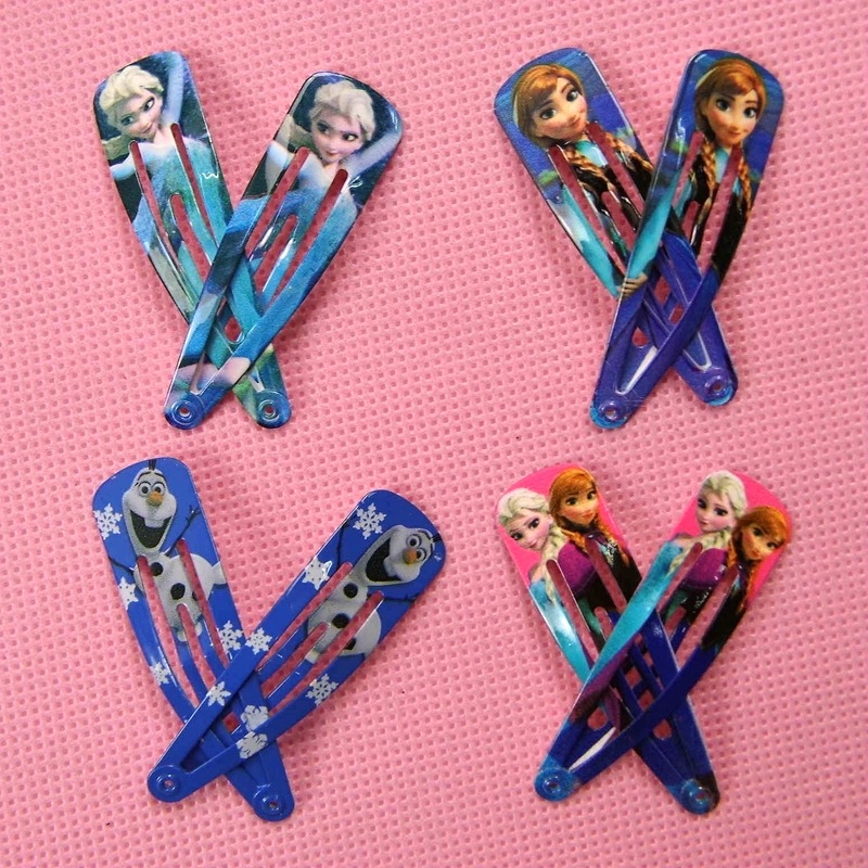 6pcs/lot Elsa Anna Clip Hairpins Baby Hairclips Headwear Elsa Anna Olaf Snow White Ariel Clips for Girl Fashion Character Party<br><br>Aliexpress