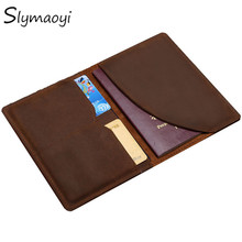 Buy Slymaoyi Vintage Men Genuine Leather Passport Cover Travel Passport Holder Bag Passport Case Wallet License Credit Card Holder for $7.96 in AliExpress store