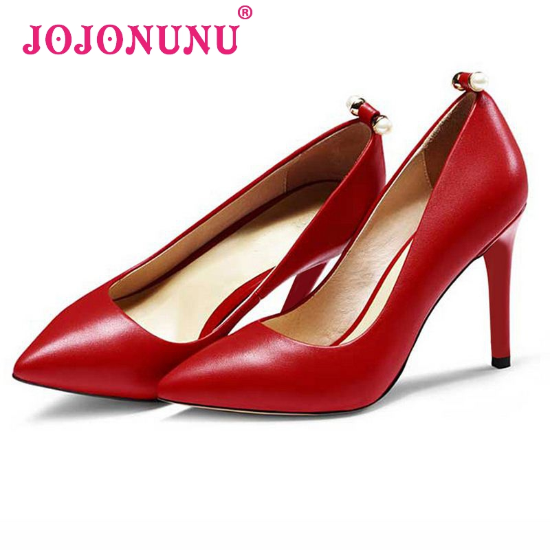 women wedding real genuine leather red bottom high heel shoes brand sexy heels fashion pumps heeled shoes size 34-39 R08500<br><br>Aliexpress
