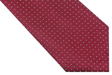 NT0593 Red White Checks Man s Jacquard Woven Necktie New Classic Silk Polyester Business Casual Wedding