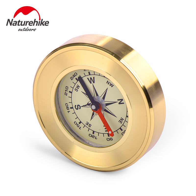 NatureHike Mini Military Camping Marching Lensatic Compass Magnifier Gold Survival Products Pointer Guide Outdoor Sports Hiking(China (Mainland))