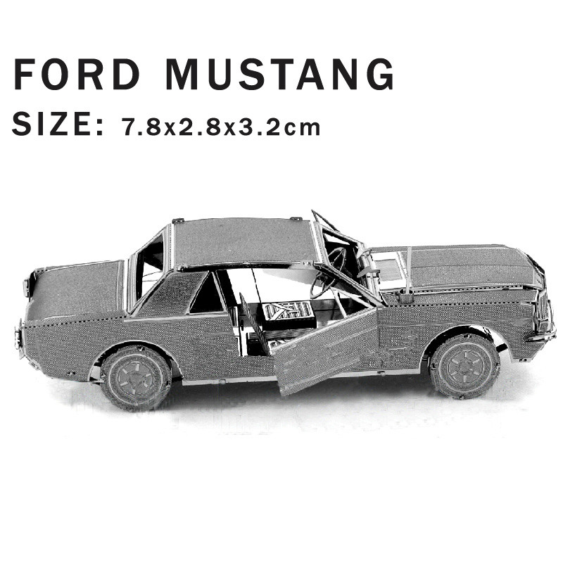 Real details New creative Ford Mustang 3D puzzles 3D metal model DIY Vintage sports car Jigsaws Children toys Real details Etc.(China (Mainland))