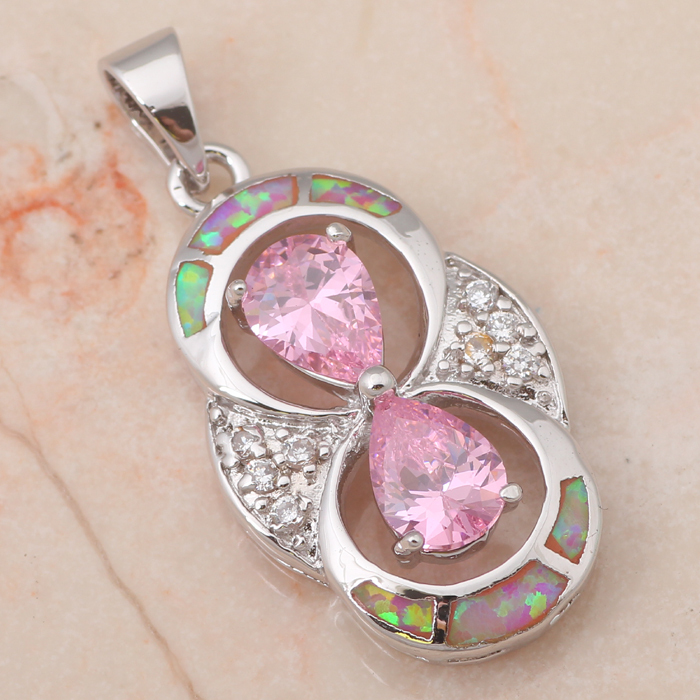 Hot selling ! AAA Pink Topaz Purple Fire Opal 925 Silver Pendants Fashion jewelry Anniversary Birthday Gifts OP423A(China (Mainland))