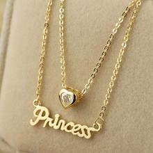 CN112 Female brief paragraph letter collarbone chain color preserving    B11 necklace(China (Mainland))