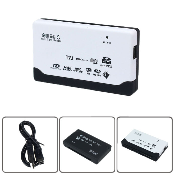 New 2015 USB 2.0 ALL IN 1 Multi Card Reader for SD XD MMC MS CF SDHC TF Micro SD M2 Adapter Free shipping()