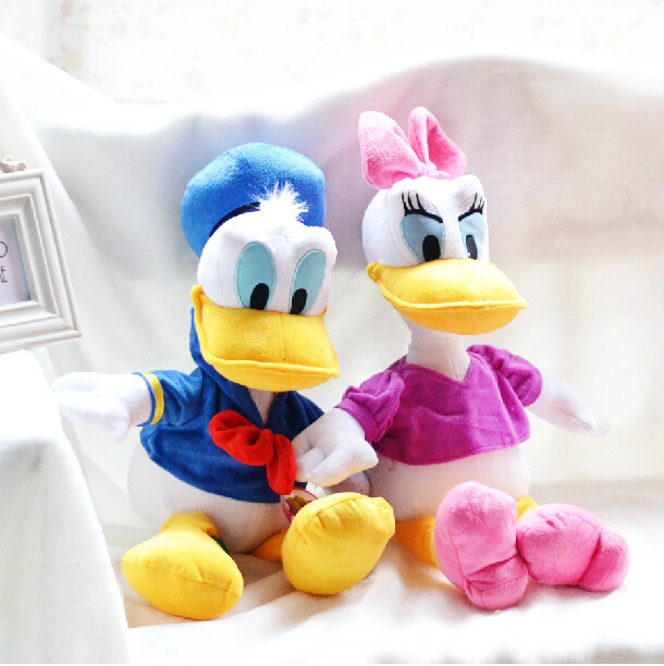 30cm 2pcs/lot Genuine Donald Duck Daisy Duck doll plush toy children's Day gifts , christmas gift free shipping(China (Mainland))