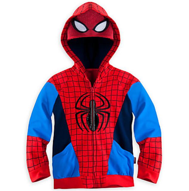 Мальчики Человек-Паук мстители Дети Куртка С Капюшоном Дети Балахон Пальто Super Hero Капитан Американской Верхняя Одежда Пальто Мальчиков Одежда