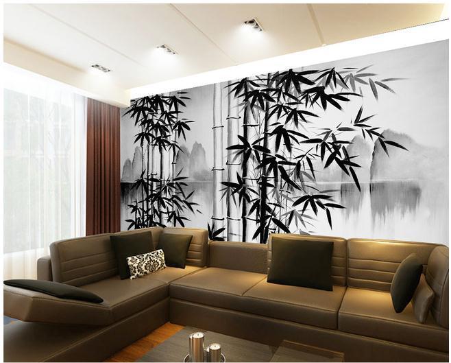 Bambous paysage promotion achetez des bambous paysage for Como pintar un mural en la pared