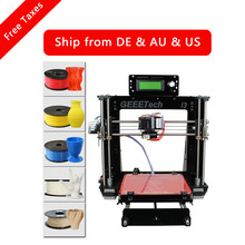 Geeetech Prusa i3 Pro B 3D Printer Acrylic Frame High Precision Impressora DIY Kit LCD Free 2016 Newest Machine(China (Mainland))