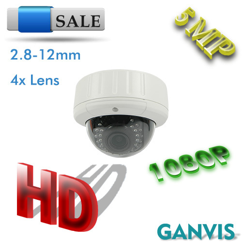2K+ resolution CMOS more than 1080P! 5mp IP camera outdoor dome 2.8-12mm wide lens security network cctv camera GANVIS GV-T555S(Hong Kong)