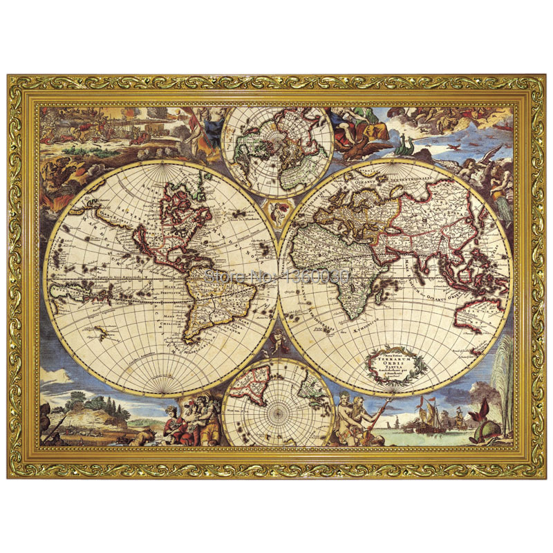 Quality Map Of The World 14 Styles Paper Jigsaw Puzzles 1000 Pieces For Adults Educational Toy For Family Children's Play Game.(China (Mainland))