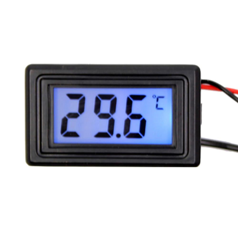 DU# LED Display Digital Temperature Meter Gauge Thermometer -50 to 110 Celsius Degree Free Shipping(China (Mainland))