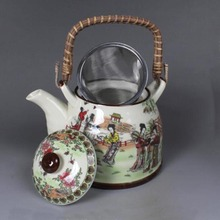 Ceramic tea set and wind girder Pot of large pot with cold water hotel restaurant glair twelve gold hair pin(China (Mainland))