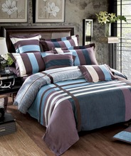 4 Pcs 100%Cotton Fashion plaid bedding sets Warmer  Queen/King size Bed linen Comforter cover/Bed sheet/Pillowcases(China (Mainland))