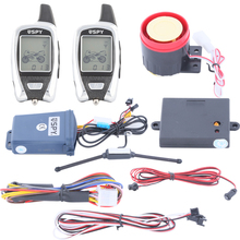 Quality SPY 2 way motorcycle alarm system with microwave sensor detecting, remote engine start & shock warning
