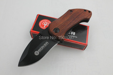 5PCS/LOT BOKER DA33 Pocket Knife Mini Small Folding Knife 440C Blade Wood Handle Camping Outdoor Survival Tools Free Shipping