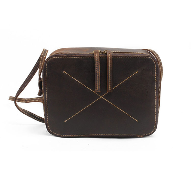 Top Grade Women's Genuine Leather Messenger Bag Crazy Horse leather Sling Bags Vintage Mini Crossbody Bags M023(China (Mainland))