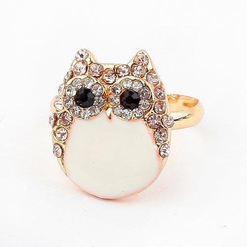 2014 FASHION JEWELRY RINGS hOT Fashion Cz Diamond Owl Opening Ring For Women