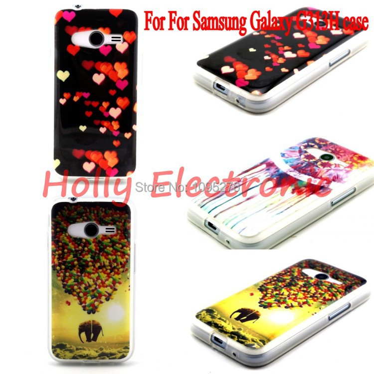 Fashion Soft TPU Silicone Back Case Cover For Samsung Galaxy ACE 4 G313H case free shipping(China (Mainland))