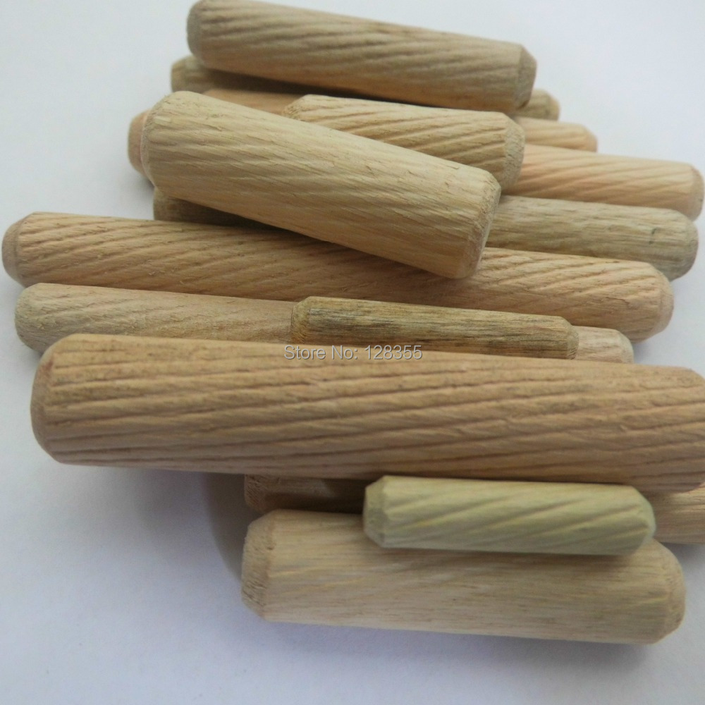 200pcs m8x40mm grooved fluted wooden dowel pin wooden for Wooden dowels for crafts
