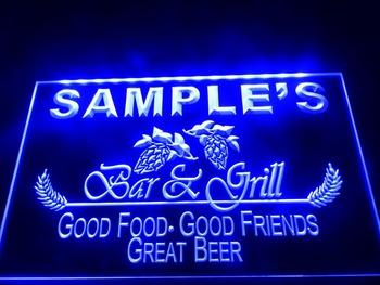 DZ019- Bar & Grill Beer Wine LED Neon Light Sign