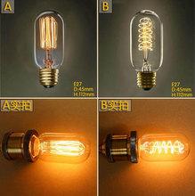 Buy 220V 230V 240V T45 Vintage Squirrel Spiral 40W E27 Incandescent Edison Light Bulb tungsten filament lamp bulbs for $9.50 in AliExpress store