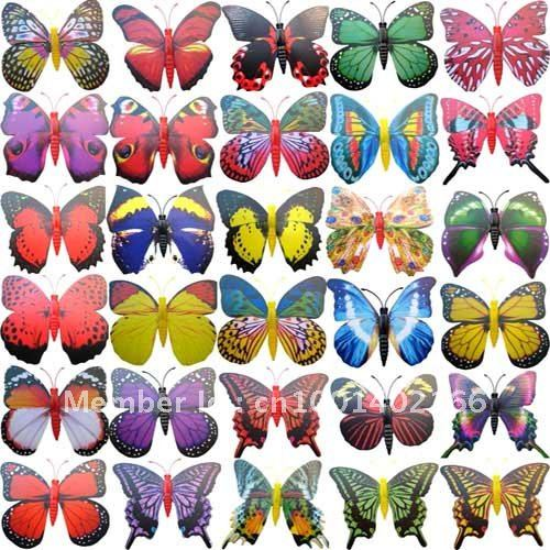 WOW!50PC 3D Lovely BUTTERFLY Wedding Decoration 4CM(China (Mainland))