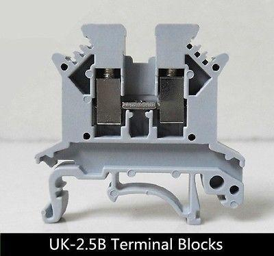 100Pcs UK-2.5B DIN rail Terminal blocks Phoenix type<br><br>Aliexpress