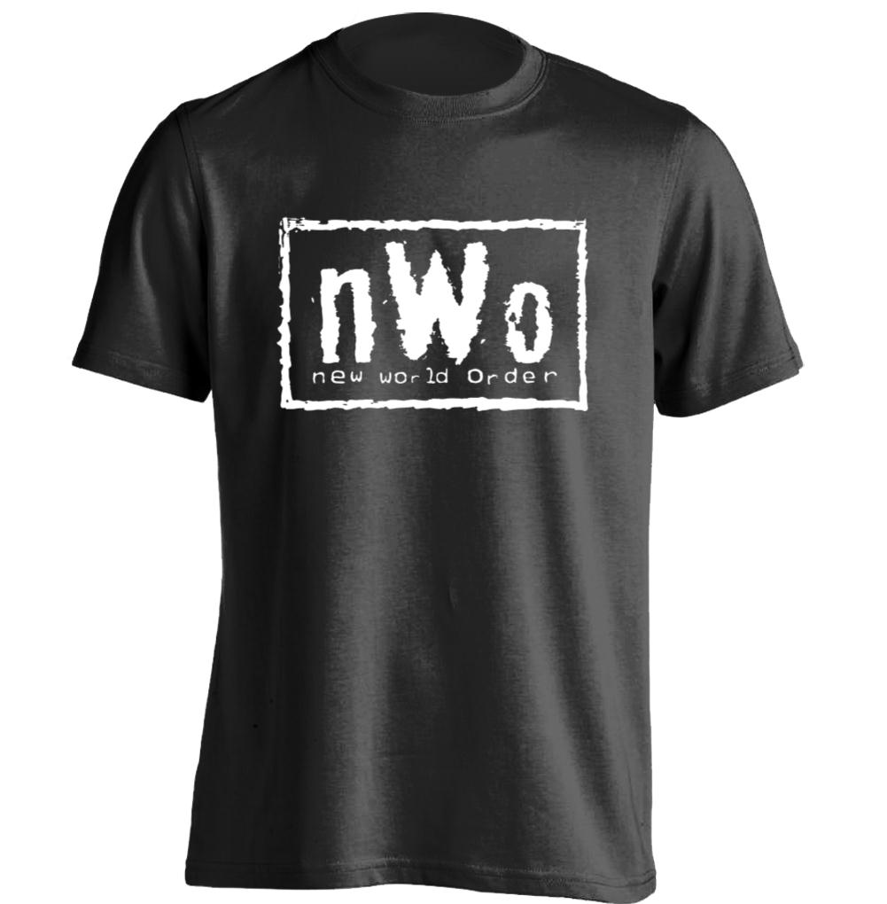 nwo red logo new world order mens womens retro t shirt