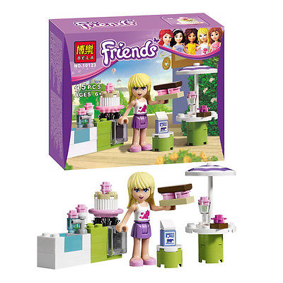 minifigure Friends Series Stephanie's Outdoor Bakery Develop intellectual Building Block Toys Assemble toys Compatible with Lego(China (Mainland))