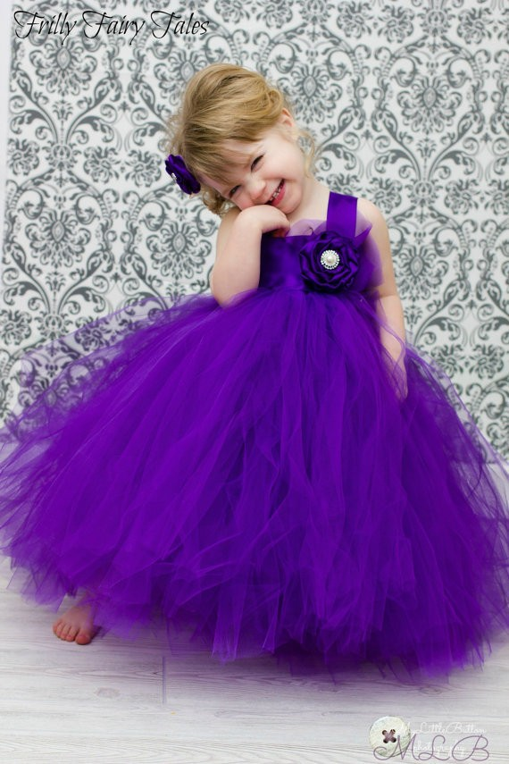 Cute Babies With Purple Dress