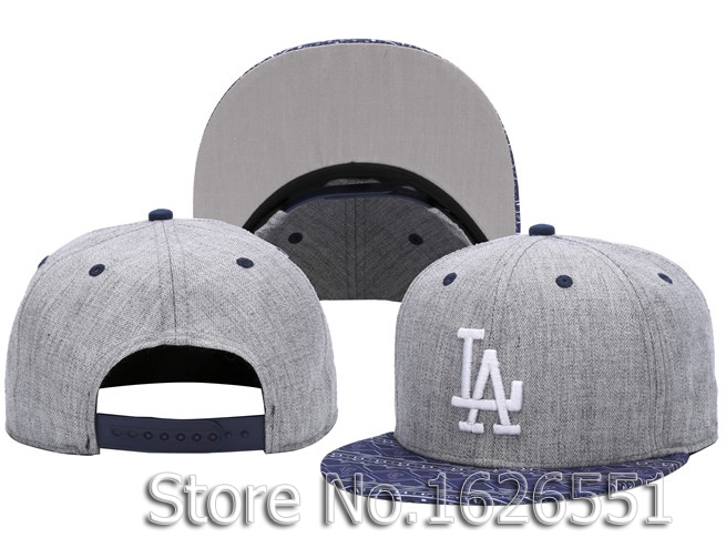 product Men's LA sport team hats repeat logo print visor Los Angeles Dodgers heather gray adjustable baseball snapback caps