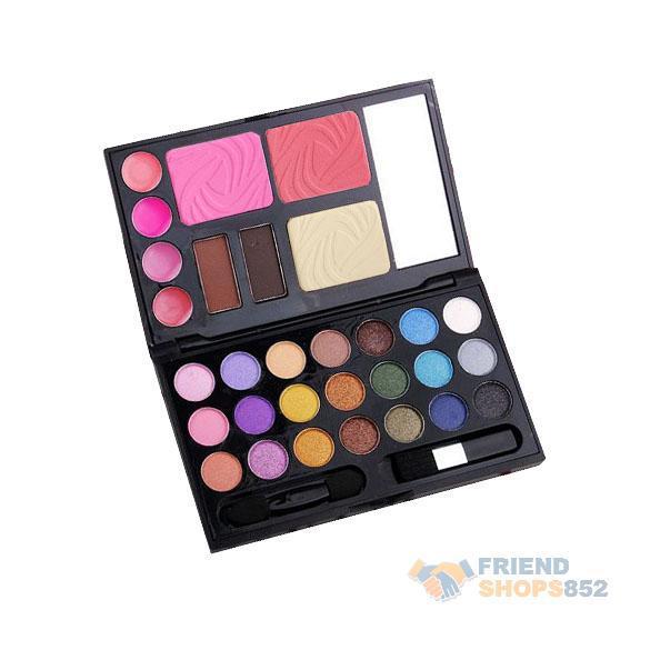 2014 Makeup Cosmetics Palette Set Eyebrow Cream Powder Cake Lip Gloss Cheek Blush Eyeshadow Make Up Kit Combo ST1#(China (Mainland))