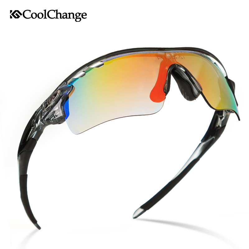 CoolChange Polarized Cycling Glasses Bike Outdoor Sports Bicycle Sunglasses Goggles 5 Groups of Lenses Eyewear Myopia Frame(China (Mainland))