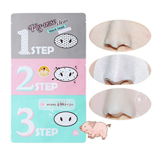 Holika Holika Remove Blackhead Remover Acne Pig Nose Mask Clear Black Head 3 Step in 1 Beauty Cleaning Cosmetic Accessory C020(China (Mainland))