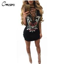 Buy Hot Fashion Cross lace t shirt Dress Women Side Split Sexy Mini vestido Rock Music Roses de festa kerst jurk dames QL2792 for $10.86 in AliExpress store