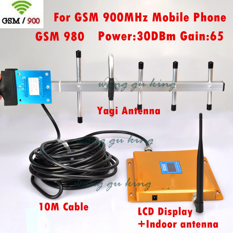 LCD Display GSM Signal Repeater CDMA 3G 4G 900mhz Mobile Phone Signal Booster Cell Phone Amplifier With Cable Antenna 0.8kg(China (Mainland))