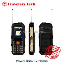 New 2.4 inch Watch Free Analog TV Dual Sim Mobile Phone Power H500D Portable Power Bank Plug Battery 4800mah SOS Phones P291(China (Mainland))