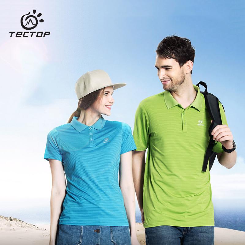 Summer Hiking Polo Quick Dry T-Shirt Men Women Casual Slim Fitness Shirt Sport Climbing Camping Jerseys Golf Tennis T-Shirt 6153