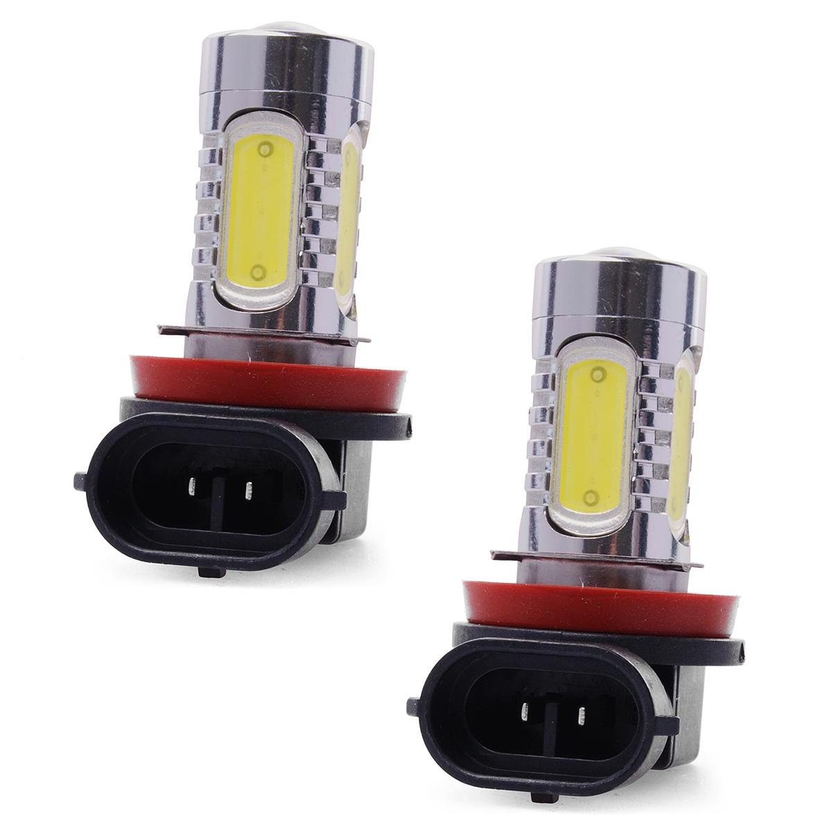 2 pcs Car LED Fog Lights H11 7.5W 10-30V Daytime Drive COB DRL Front Lamp High Power White Bulb 20mm LD310(China (Mainland))