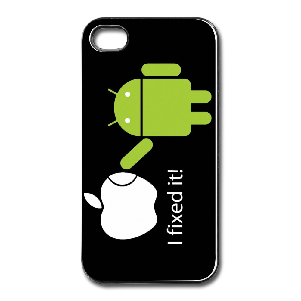 Personalize For Iphone 4s Case Android Robot fix logo Cool Photos Cases For Iphone 4 4s Cheap(China (Mainland))