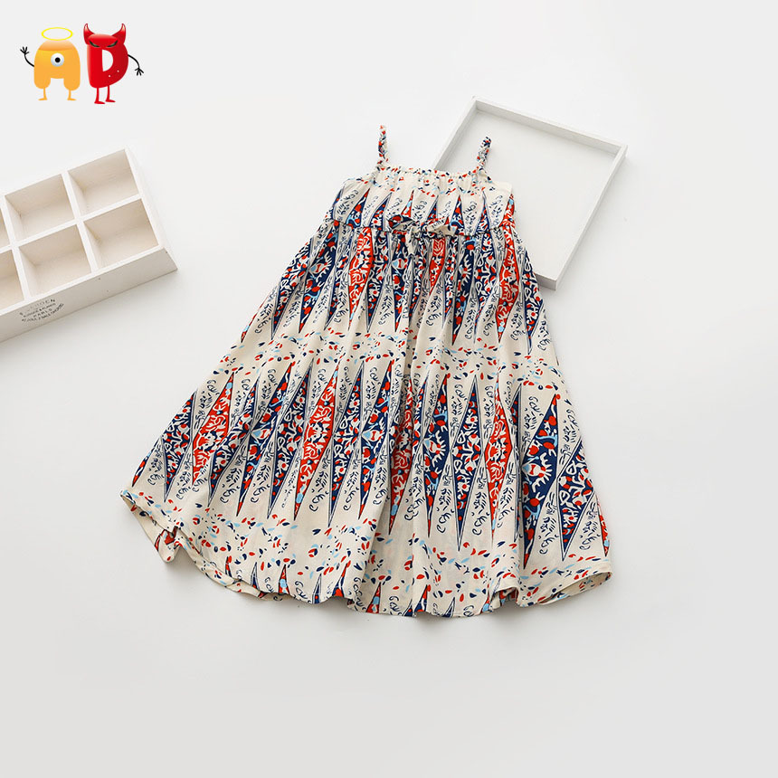 Ad 5pcs lot bohemian baby girls dress national style for Fabric for kids clothes