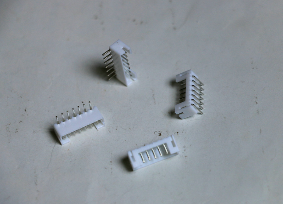 100 pcs White 7pin PH-2.0 male L shaped 90 degree right Supplies socket connector terminals Seven pins Adapter plug pitch 2.0mm(China (Mainland))
