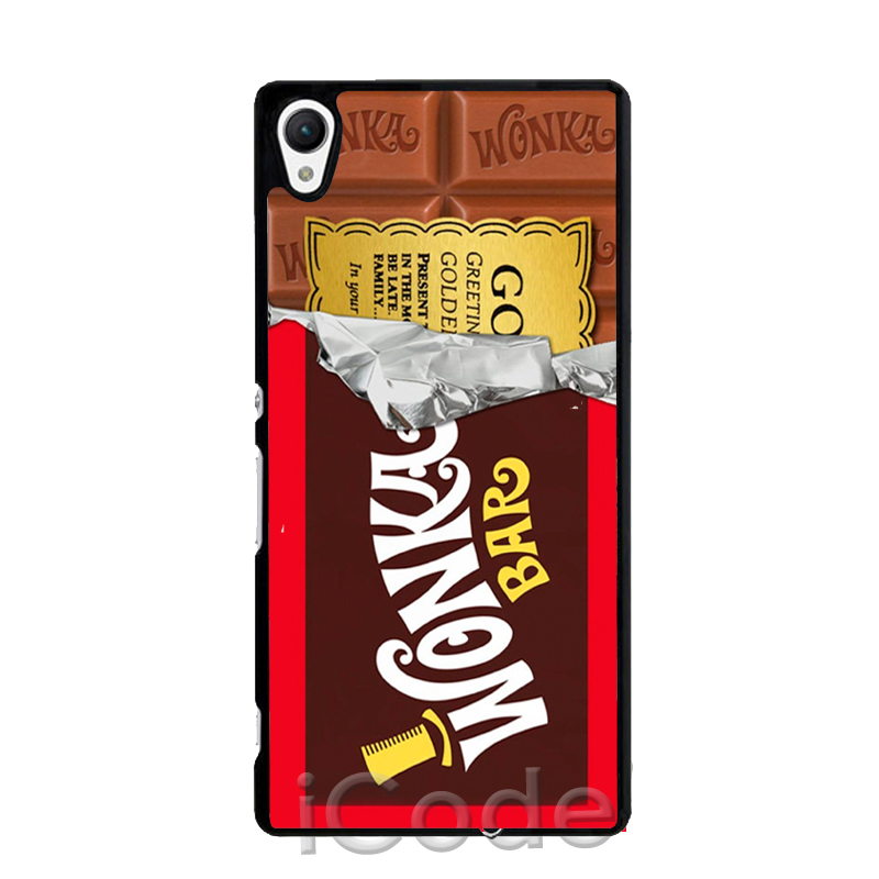 Willy Wonka Bar Chocolate Phone Cover Case for Sony Xperia Z Z1 Z2 Z3 Z4 Z5 Mini C C3 C4 M2 M4 M5 E4 T2 T3 HTC One M7 M8 M9(China (Mainland))