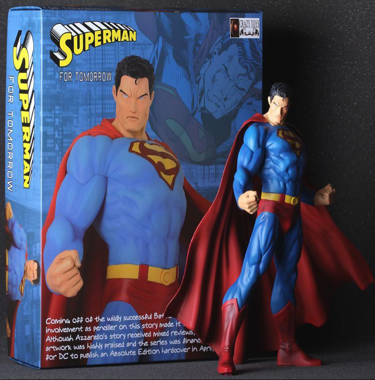 Cartoon Version High Quality Sophisticated Model Of The Avengers Superman Toys 30cm Action Figure Model(China (Mainland))