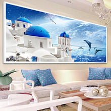 Buy New 2017 Mediterranean Sea diamond painting Unfinished cross stitch diy 5d full diamond mosaic handmade home decor mural crafts for $21.18 in AliExpress store