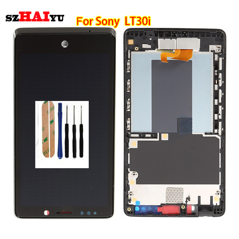 100% Test well LCD Display+Touch Screen For Sony Ericsson Xperia T LT30 LT30i with Digitizer Assembly Tools(China (Mainland))