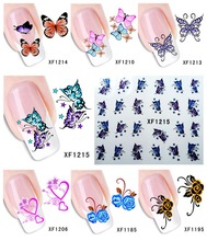 60Sheets XF1181-XF1240 Nail Art Water Tranfer Sticker Nails Beauty Wraps Foil Polish Decals Temporary Tattoos Watermark