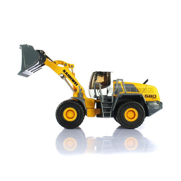 3pcs/pack Wholesale Brand New 1/50 Scale Diecast Car Model Toys KAIDIWEI Bulldozer/Pushdozer Metal Car Toy -Free Shipping(China (Mainland))