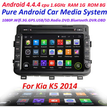 2din Car GPS stereo Pure Android 4.4 For kia NEW K5 2014 with WIFI 3G Capacitive screen car radio car stereo 1.6GHZ